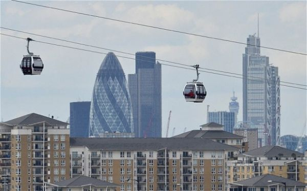 London's first cable car ready for Olympics