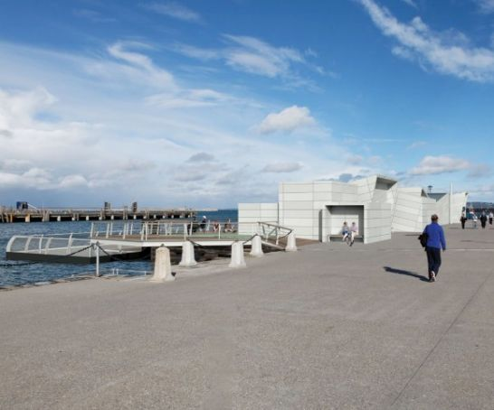 Urban beach for south Dublin suburb