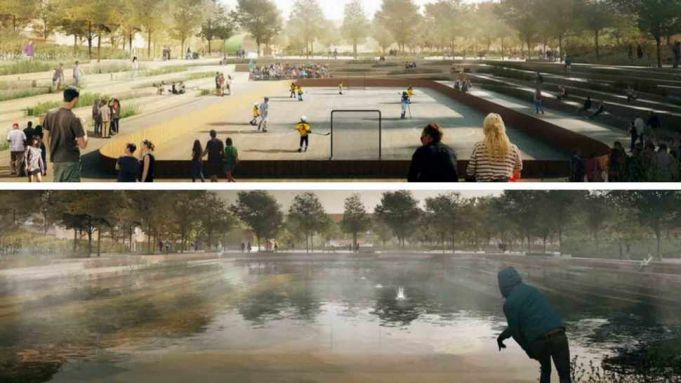 Copenhagen designs floodable park