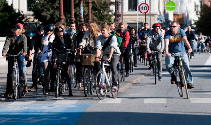 Right turns at red lights for cyclists in Denmark