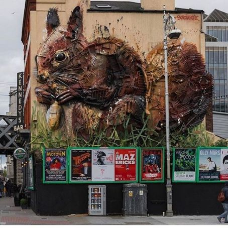 Dublin Bordalo squirrel