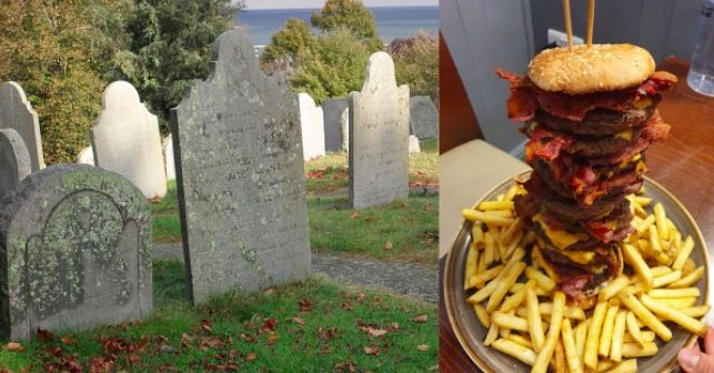 Man VS Food: pub pays for your tombstone if you manage to eat their mega burger