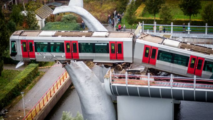 Train derails and lands on a whale's tail