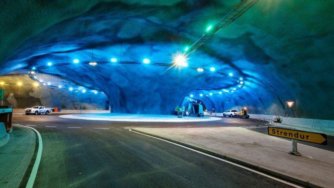The Eysturoy tunnel opens in Denmark