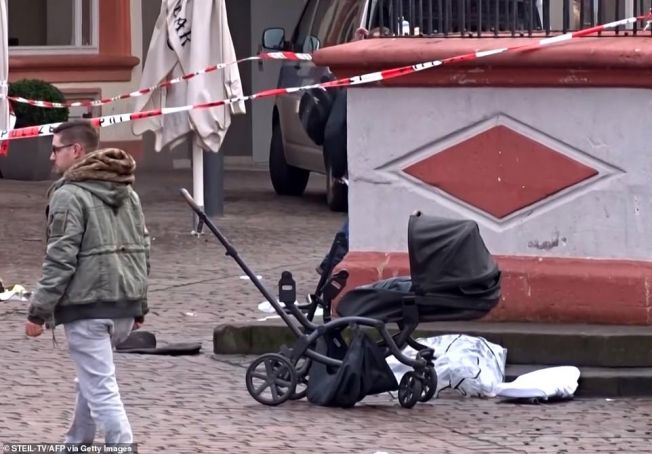 Local German man runs over people in the streets of Trier