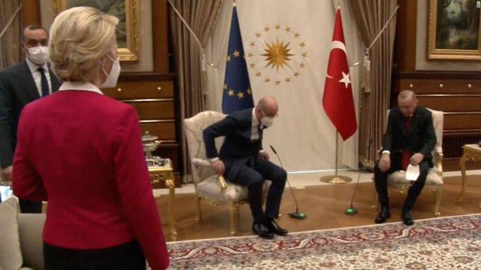 Ursula von der Leyen describes Turkey chair snub as sexism