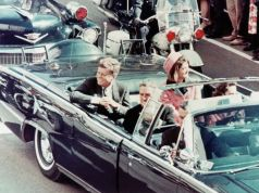 John Fitzgerald Kennedy assassinated on 22 November 1963