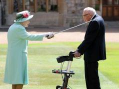 Queen Elizabeth II knights war veteran Tom Moore
