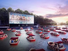 Paris hosts floating cinema on river Seine