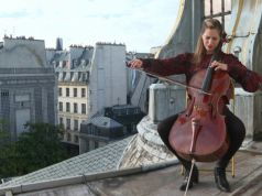 The notes of a Stradivarius cello resonate above Paris