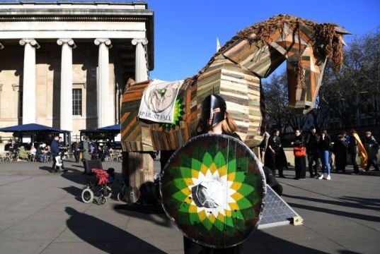 Climate protests at the British Museum in London