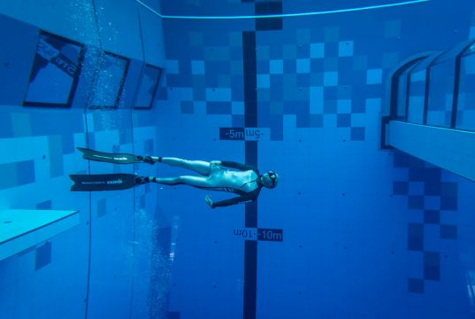 World's deepest diving pool in Mszczonow, Poland