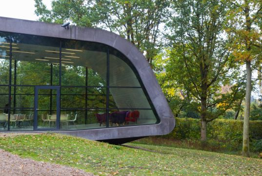 Visiting the Ordrupgaard museum by Zaha Hadid