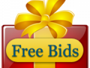 Giving away free bids to participate in online auction