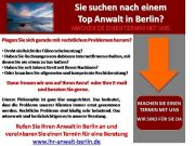 Sie suchen nach einem Top Anwalt unter den Rechtsanwälten in Berlin?