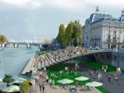 Pedestrian banks along the Seine