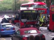 Boris bus crashes in central London