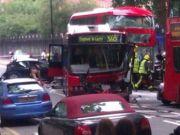 Boris bus crashes in central London