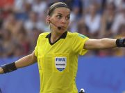 Stephanie Frappart, the only woman to referee a men's UEFA Champions League game
